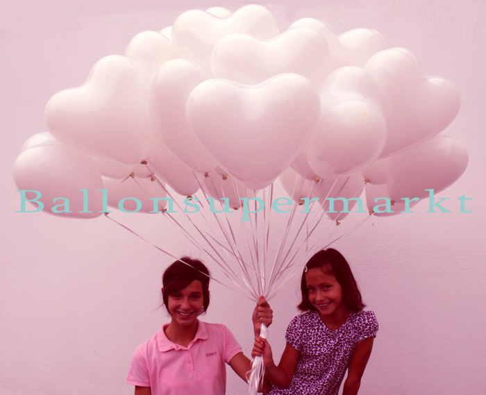 Geschenk-Hochzeit-Herzluftballons